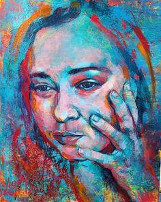 Self Portrait by Luzdy Rivera #luzdyart Painting People, Portrait, Watercolor Tattoo, Vibrant, Abstract, Artist, Paintings, Summary, Headshot Photography