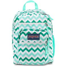 JanSport Big Student Aqua Dash Zou Bisou ($46) ❤ liked on Polyvore featuring bags, backpacks, accessories, jansport bags, jansport, jansport rucksack, jansport backpack and backpacks bags