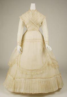 Ensemble Date: 1867–68 Culture: French Medium: cotton