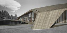 Vaxjo Tennis Hall by Alessandro Calvi Rollino Architetto   #architecture #building #hall #tennis #sport #facility #modern