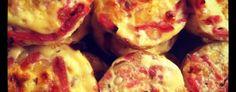 Madmuffins med hytteost og kylling