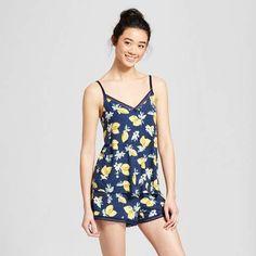 763c3e2b1b7 Gilligan  amp  O Malley Women s Total Comfort Tank and Shorts Pajama Set  Navy Lemon