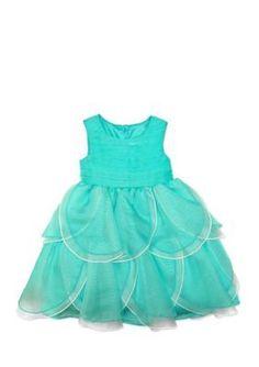 Nannette Green Petal Dress Toddler Girls