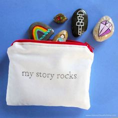 fun Art therapy activities My Story Rocks Counseling Idea. Use the story stones to have the client tell you their story, how they want their story to end, or how they wish their story could be different. Therapy Tools, Play Therapy, Therapy Ideas, Art Therapy Activities, Activities For Kids, Grief Activities, Learning Activities, Story Stones, Expressive Art