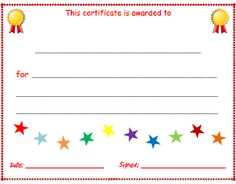 free printable award certificates for kids reading incentives