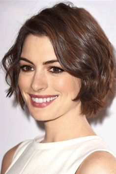 20 short wavy hairstyles for girls. Ideas about short wavy hair. Short hairstyles for wavy hair. Short Hairstyles For Thick Hair, Layered Bob Hairstyles, Short Hair Cuts, Wig Hairstyles, Curly Hair Styles, Hairstyle Ideas, Bob Haircuts, Pixie Cuts, Large Forehead Hairstyles