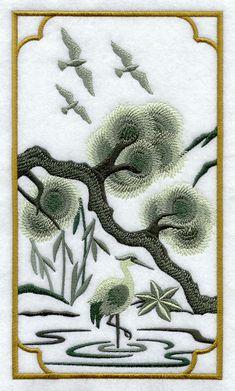 Chinoiserie Crane Panel