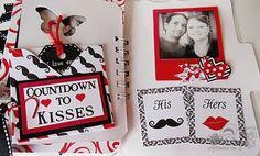 Psycho Moms Scrapbooks: How I Love You - Mini Album by Tonya Gibbs - Countdown to Kisses - mini book layout  - #canvascorp