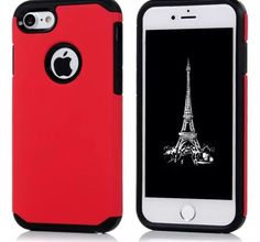2 In 1 Soft TPU Frame + Hard Plastic Armor Full Protective Cover For iPhone 7