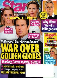May 31, Suzanne Somers, Star Magazine, Free Magazines, Freak Out, Bad Mood, Cover Pics, Tom Cruise, Golden Globes
