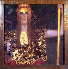Gustav Klimt (1862–1918), Minerva (of: Pallas Athene), 1898, olieverf op doek, 75 x 75 cm, Historisch Museum van de stad Wenen