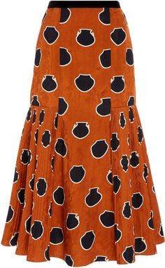 Johanna Ortiz Pleated Polka-Dot Satin-Jacquard Midi Skirt Size: 0 Johanna Ortiz Tribal Writings Pleated Jacquard Midi Skirt The post Johanna Ortiz Pleated Polka-Dot Satin-Jacquard Midi… Long African Dresses, Latest African Fashion Dresses, African Print Fashion, Ankara Fashion, Africa Fashion, African Prints, African Fabric, Short Dresses, African Print Skirt