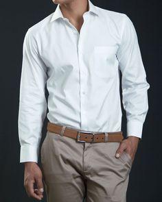 #camisa algodon blanca #camisascali #dosleonesmen
