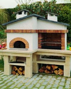 1000 images about barbacoas i forns de lenya on pinterest barbacoa grill party and outdoor - Paelleros de obra modernos ...