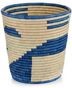 Rwanda Skies Raffia and Sweet Grass Round Basket - - Macy's