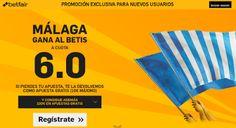 el forero jrvm y todos los bonos de deportes: betfair Malaga gana Betis super cuota 6 Liga Españ...