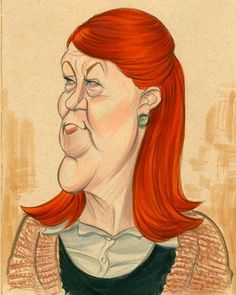 The blog of Zack Wallenfang: June 2009,illustration of Kate Flannery