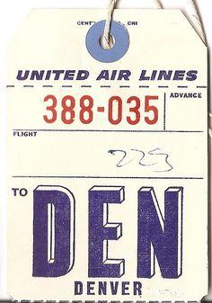vintage luggage tag