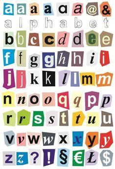 Small Alphabet Letters, Alphabet Writing, Preschool Alphabet, Alphabet Stickers, Alphabet Crafts, Cut Out Letters, Print Letters, Printable Alphabet Letters, Typography Alphabet