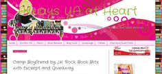 We're thrilled to be on Always YA Book Blog. Check it out @ http://www.alwaysyaatheart.com/2013/08/camp-boyfriend-by-jk-rock-book-blitz.html?spref=tw for giveaway of copies of Jennifer Armentrout's FRIGID, Amanda Sun's INK, CAMP BOYFRIEND, Advanced Readers Copies of Jenny Han and Laurie Halse Anderson's latest books, a I♥ My Camp Boyfriend Tee', and friendship bracelets. Second, third and fourth place winners get Amazon Gift Cards Open Internationally!