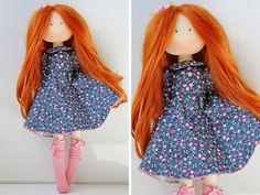 Poupée Art doll Puppen Gift for her Soft doll Rag doll Tilda