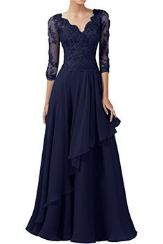 Dark Purple Mother Of The Groom Dress A-line V-neck Half Sleeve Appliques Bridal Mother Dresses Chiffon Long Party Gown Navy Prom Dresses, Mob Dresses, Dressy Dresses, Elegant Dresses, Dresses With Sleeves, Half Sleeves, Mother Of The Bride Dresses Long, Mothers Dresses, Matric Farewell Dresses