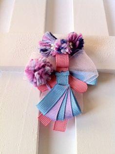 Abby Cadabby from Sesame Street Inspired Ribbon Sculpture Hair clip