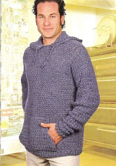 Dawg is the name of this hoodie #crochet pattern by Drew Emborksy. Find the pattern in The Crochet Dude's Designs for Guys: 30 Projects Men Will Love.