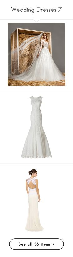"""""""Wedding Dresses 7"""" by o-hugsandkisses-x ❤ liked on Polyvore featuring wedding dress, dresses, outfit, gowns, wedding, wedding dresses, long dresses, vestidos, ivory and sleeveless lace dress"""