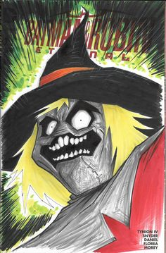 Scarecrow sketch cover Batman and Robin Eternal by MarshStore