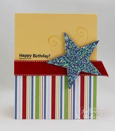 Adorable sparkly birthday card.