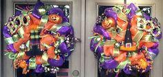 Halloween Wreaths for Double Doors