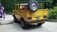 VW T3 Doka with custom canoe rack