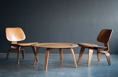 Historically important Eames LCW | CTW set, gift of Charles and Ray Eames | From a unique collection of antique and modern side chairs at http://www.1stdibs.com/furniture/seating/side-chairs/