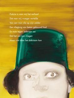 Aan de muur - Plint poëzieposter - Poëzie is voor mij het verhaal Rein Vroegindeweij