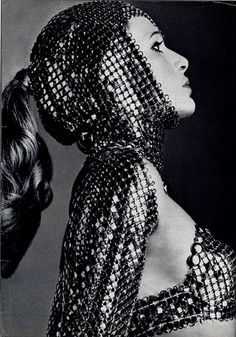 womens 1960s vintage clothing-Paco Rabanne's chainmail outfits