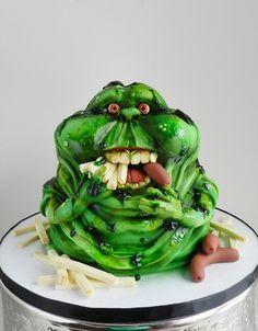 "Slimer (Inspired by a Cake International submission) - ""The Cake Whisperer"""