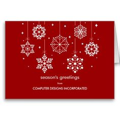 Business holiday cards ornamental holiday by chica design info snowflakes corporate christmas card reheart Image collections