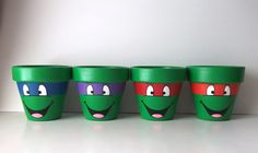 TMNT Teenage Mutant Ninja Turtles Individual Painted Flower Pot