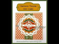 Make a Autumn Thank You Card CTMH Artiste Cricut Close to My Heart - YouTube