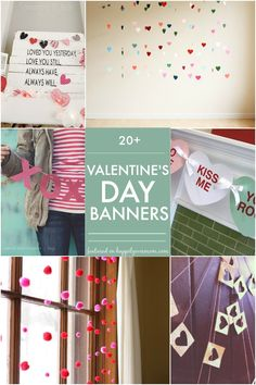 I think I might be obsessed with Valentines day garlands. Maybe it's because they are so simple that they make for the perfect last minute Valentines day craft Valentine Special, Saint Valentine, Valentine Day Crafts, Be My Valentine, Valentine Ideas, Valentines Day Activities, Valentines Day Decorations, Holiday Decorations, Holiday Themes