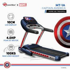 Exercise Machines For Home, Workout Machines, Treadmill Price, Electric Treadmill, Save Energy, How To Stay Healthy, Captain America, Gym Equipment, Marvel
