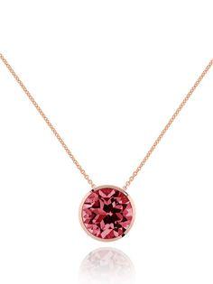 Juliet Gemstone Necklace with Rhodolite