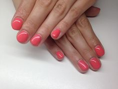 Coral with shiny pearl chrome powder