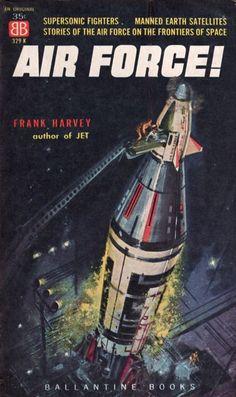 ED VALIGURSKY - art for Air Force! by Frank Harvey - 1959 Ballantine Books