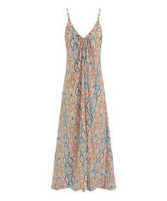Look at this #zulilyfind! Orange & Teal Geometric Maxi Dress by S.H.E. – Soul Harmony Energy #zulilyfinds