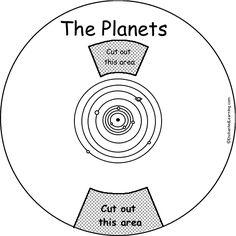 Planets Word Wheel: Printable Worksheet - EnchantedLearning.com