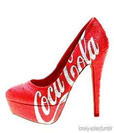 coca-cola high heels is very nice! Don't have in my Cola Collection, but would love to have it! Coca Cola, Cute Shoes, Me Too Shoes, Shoe Boots, Shoes Heels, Red Heels, Red Stilettos, Women's Pumps, Shoes Sneakers