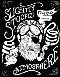 slightly stoopid and atmosphere summer tour 2013 poster by Parker Lichfield