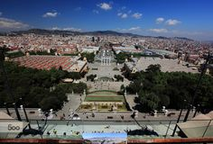 Roof Top View National Art Museum of Catalonia  Barcelona Spain